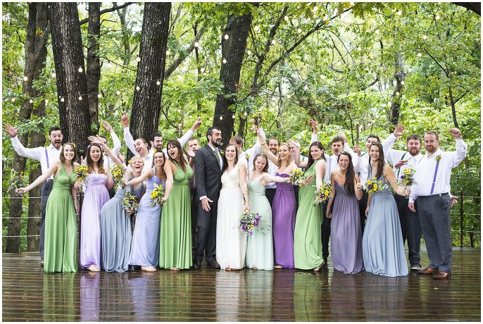 wedding party in pastel dresses photo
