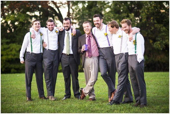 groomsmen in suspenders photo