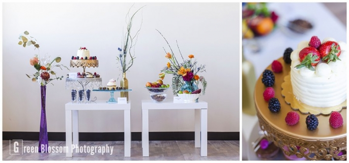 www.greenblossomphotography.com, Hunger Games Capitol citizen wedding photo, Colorado wedding photo, Denver wedding photo, The Studio Denver venue photo, Bella Calla wedding flowers photo, Juliana