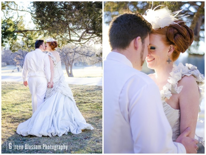 www.greenblossomphotography.com, Hunger Games Capitol citizen wedding photo, Cheesman Park wedding photo, d