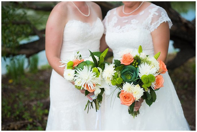 lesbian wedding flowers with cabbage photo