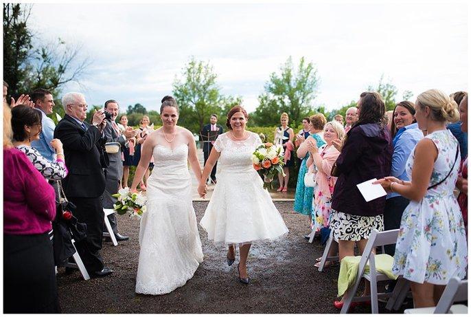 Denver lesbian wedding ceremony photo