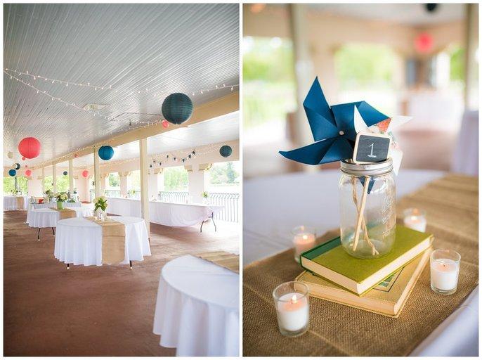 pinwheel decoration wash park boathouse wedding reception photo