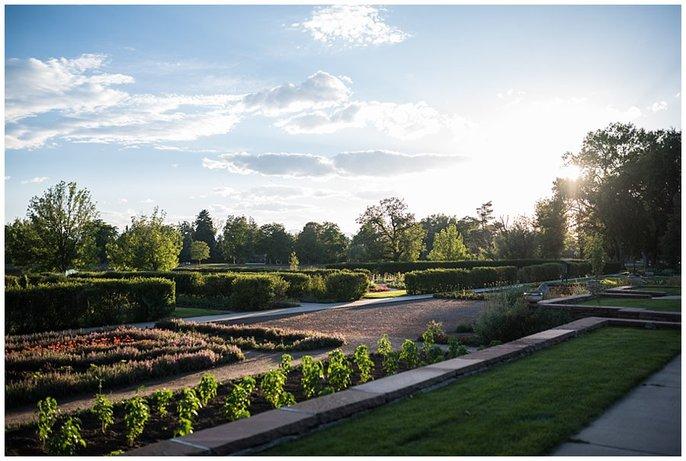 Washington Park Denver gardens wedding photo