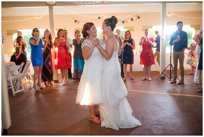 First dance lesbian wedding denver photo