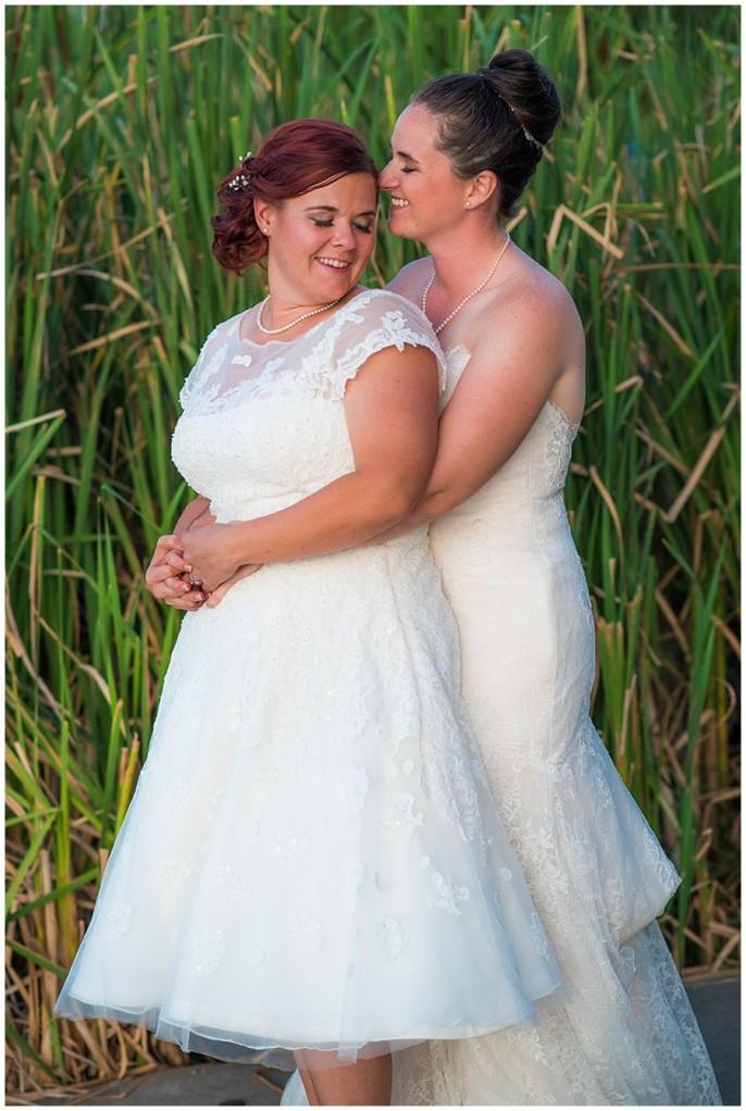 Lesbian wash park boathouse wedding reception photo