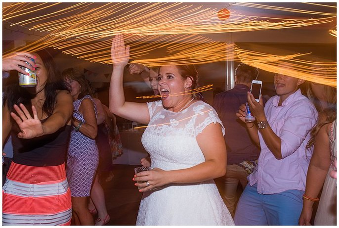 LGBT Denver boathouse wedding reception photo