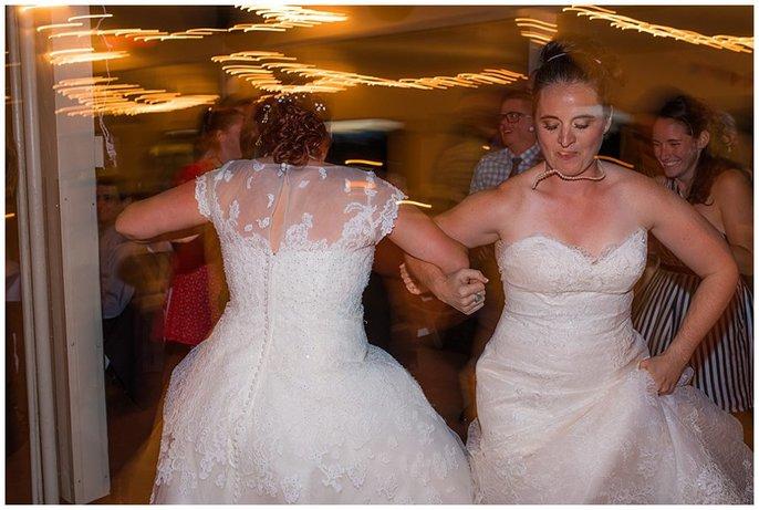 Lesbian Denver park dancing photo