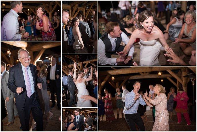 reception dancing photo outdoor vail mountain wedding