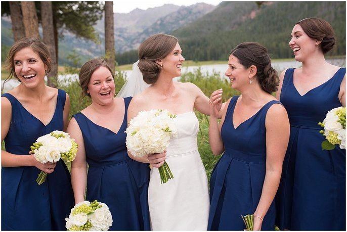 Piney River Ranch wedding bridal party photo
