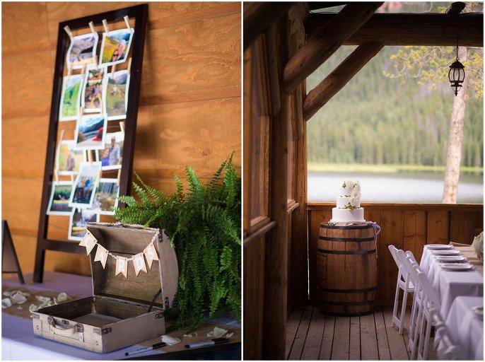 colorado mountain rustic wedding details photo