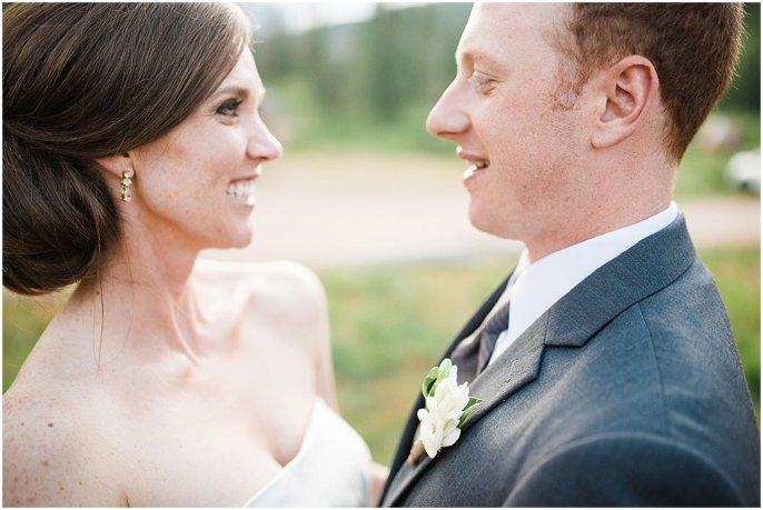 couples colorado outdoor mountain wedding photo