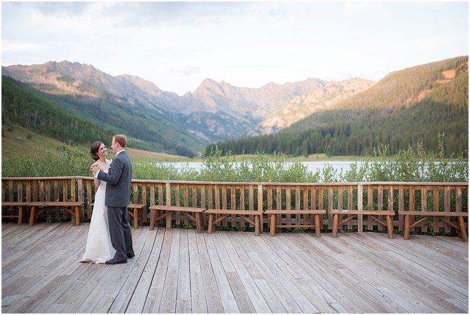 first dance photo in vail colorado mountains photo