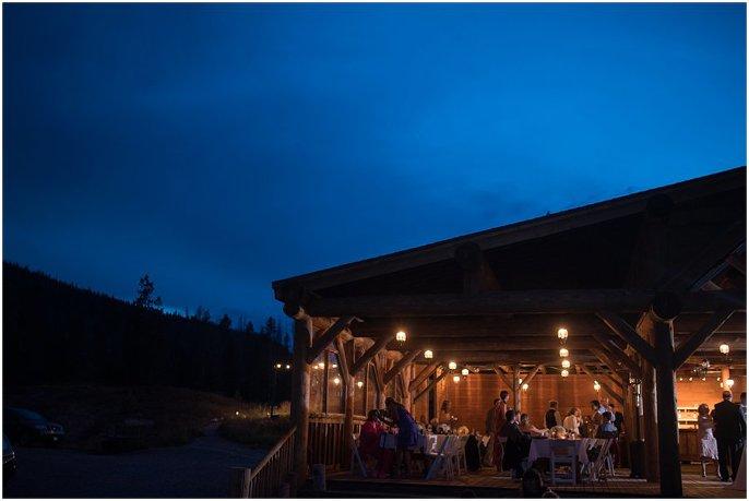 outdoor colorado mountain wedding photo