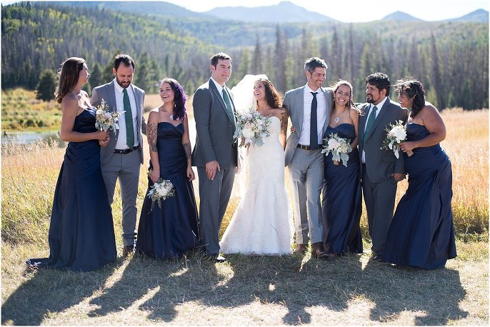 Midnight Ranch wedding bridal party photo