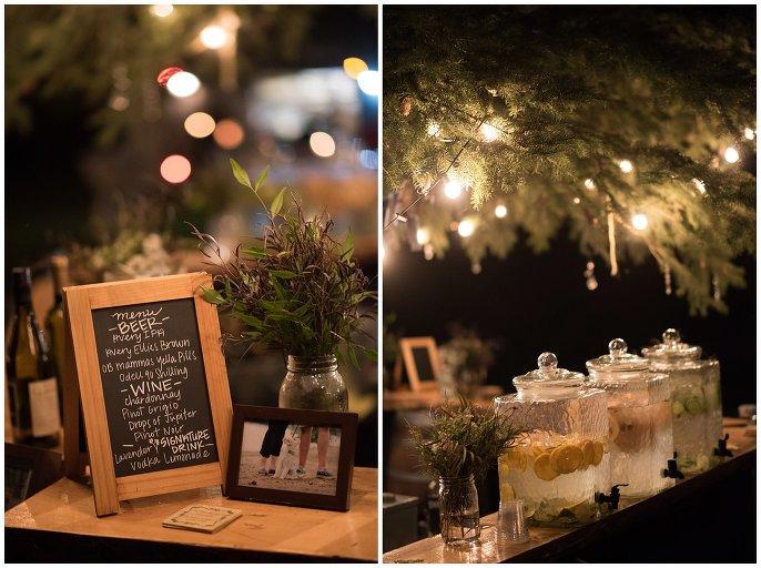 cozy outdoor Lyons mountain wedding reception photo