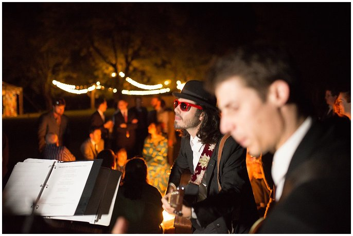 firepit at colorado mountain wedding reception photo