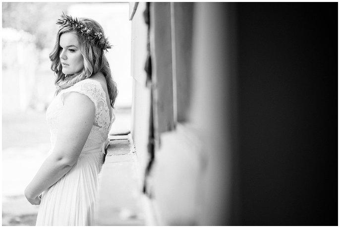 bridal portrait colorado river wedding
