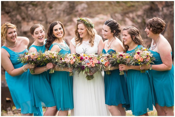 bridal party Lyons wedding photo