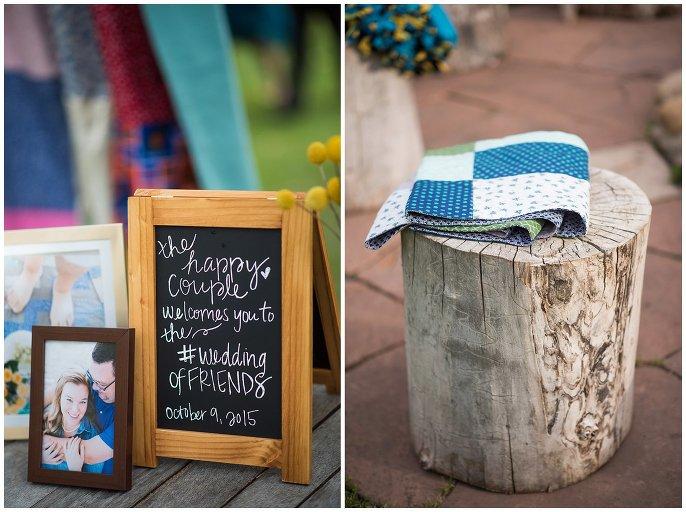 sentimental details mountain wedding photo