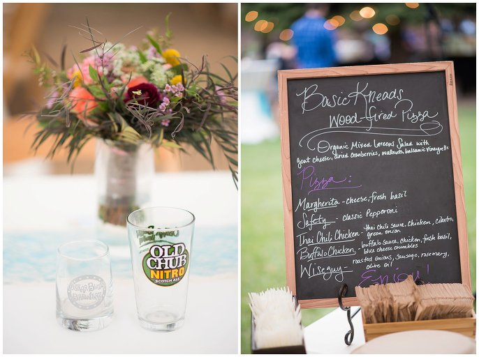 food and drink reception mountain wedding photo