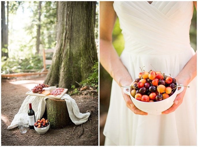 picnic in the woods elopement photo