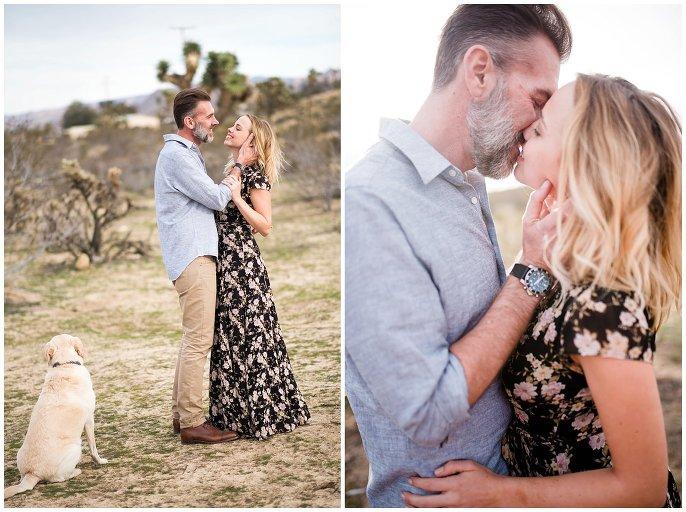 engagement photos in the california desert photo