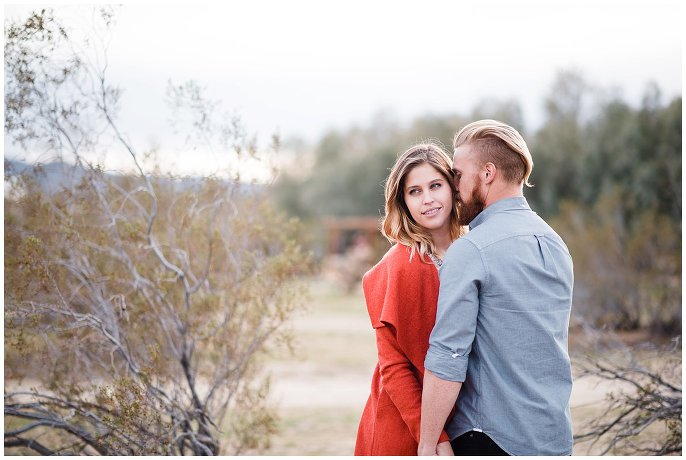 sunset desert engagement shoot