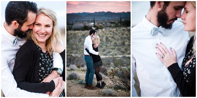 palm springs engagement in the desert photo
