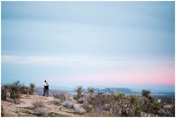 Joshua Tree sunset engagement shoot photo