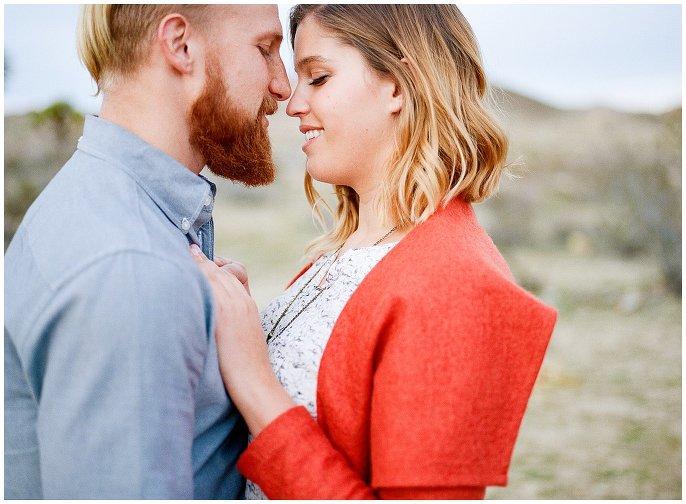 intimate couples shoot in Joshua Tree Desert photo