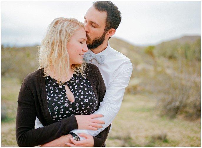 romantic desert engagement photo
