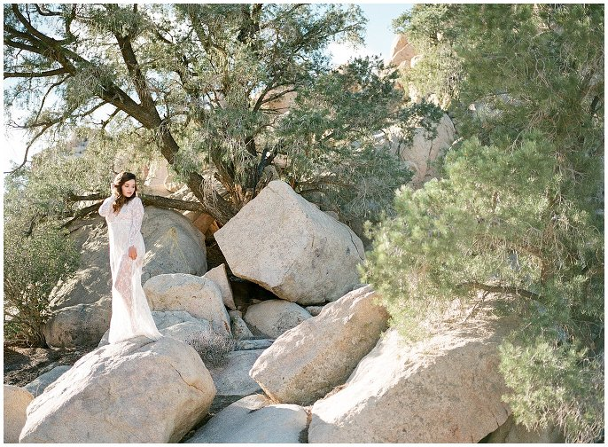 lace dress in desert photo