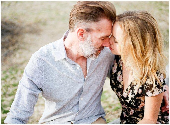 intimate engagement photo in the California desert