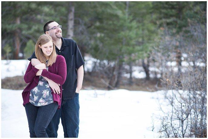 snowy larkspur couple