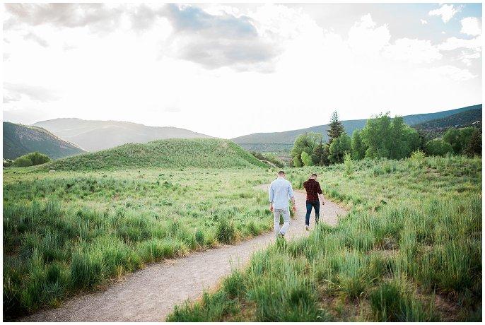 Eagle River Preserve gay engagement photo