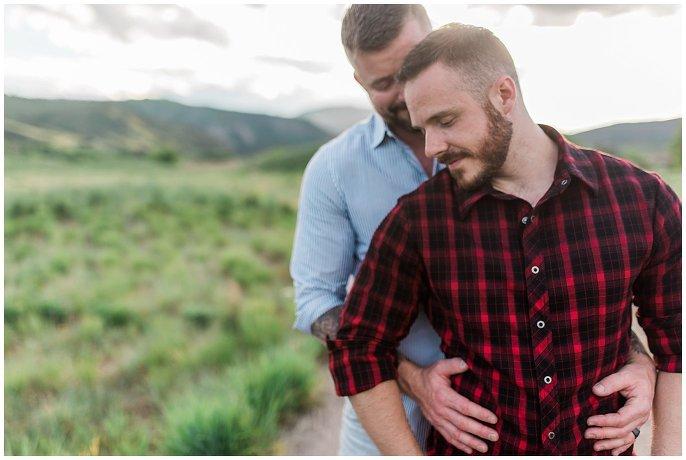Colorado gay engagement photo