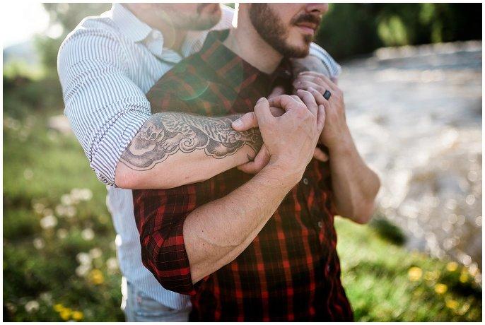 gay couple with tatoos