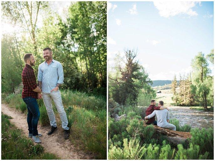 Eagle River Preserve engagement photo