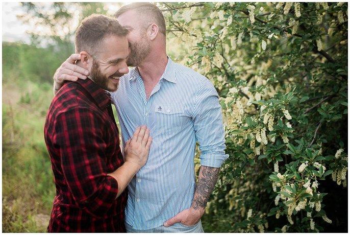 Vail gay engagement photo