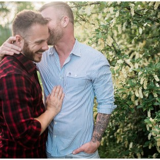 Vail gay engagement photo