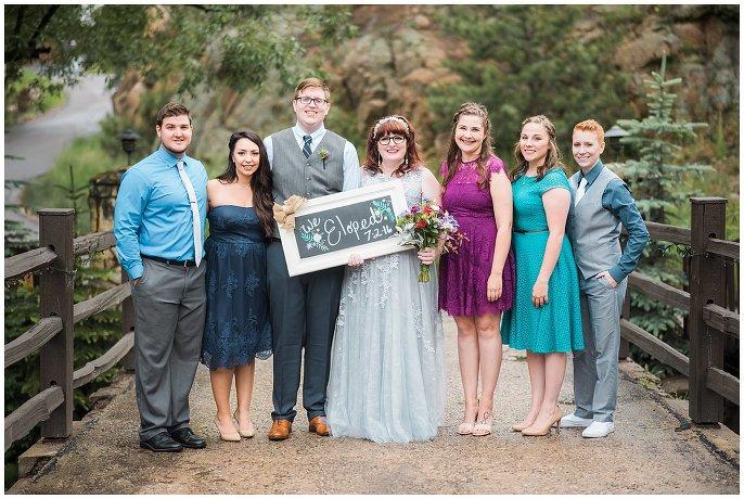 couple eloping in evergreen colorado