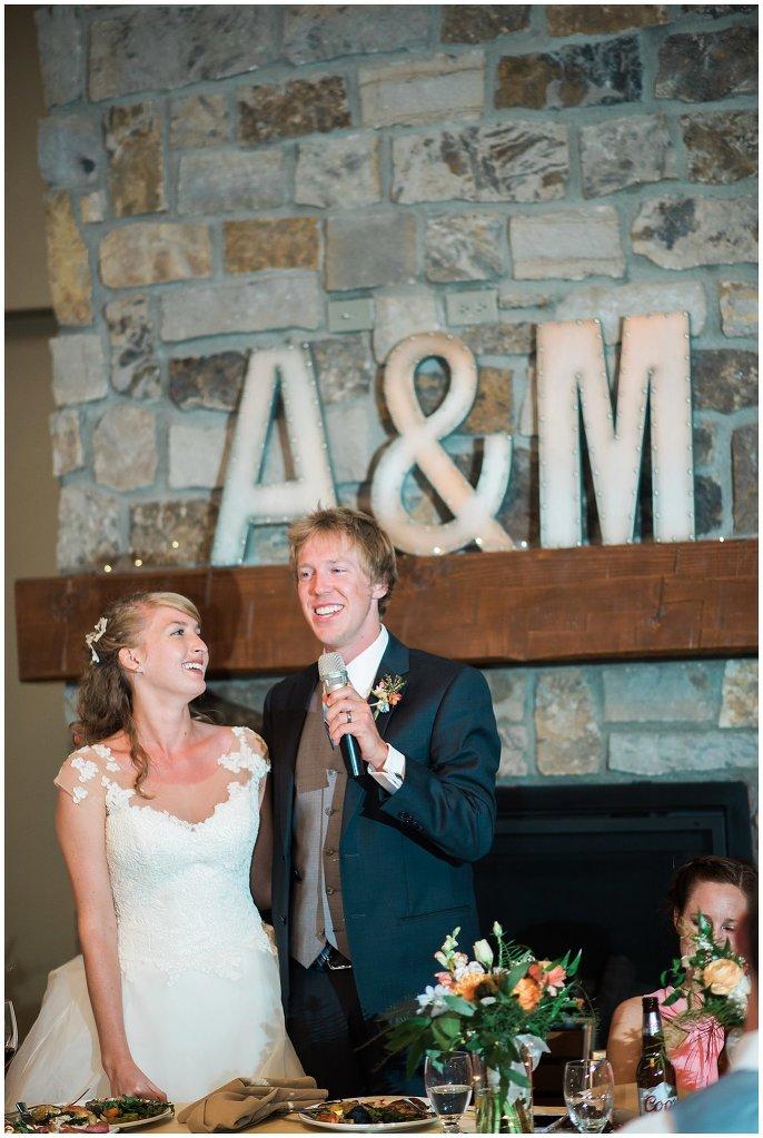 toasts at Colorado mountain wedding photo