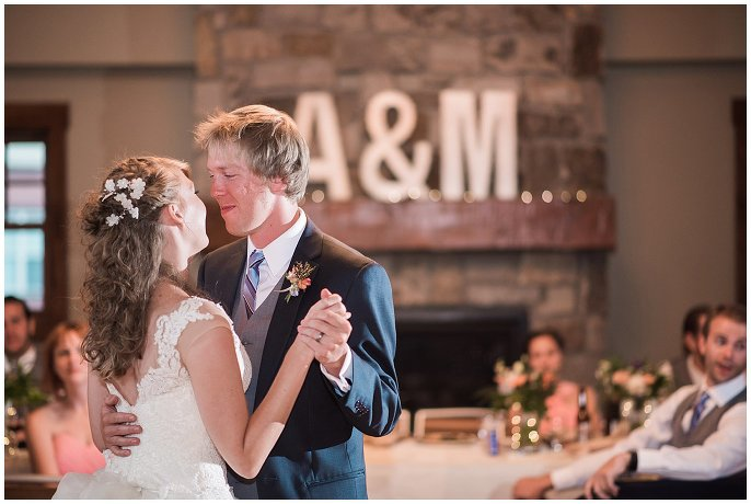 first dance intimate colorado wedding photo