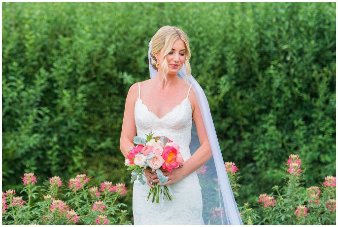 bridal portrait in flowers at City Park Denver photo