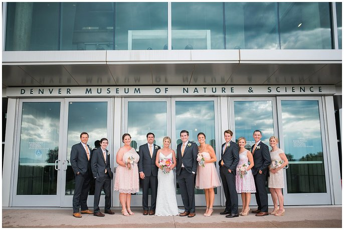 Denver Museum of Nature and Science wedding photo