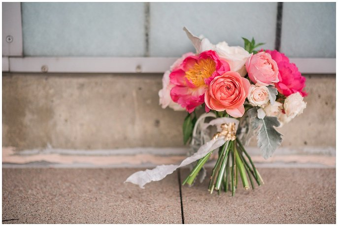 MJM Designs pink wedding flowers photo