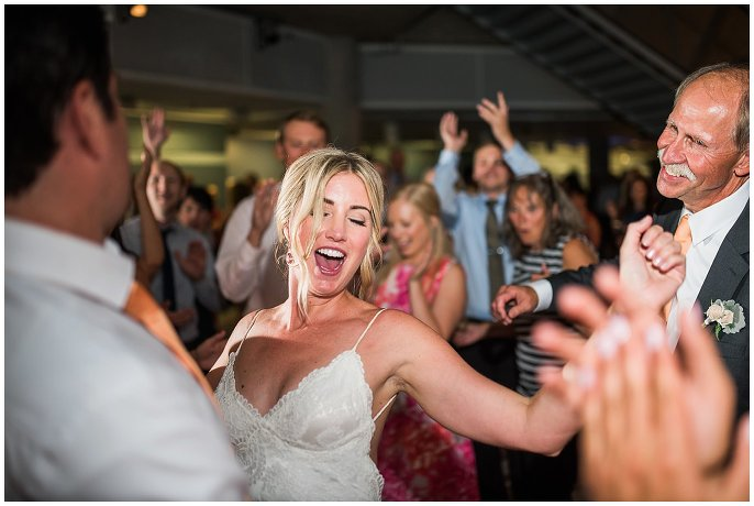 bride dancing on wedding day photo