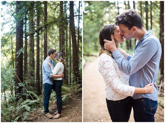 intimate california engagement photo