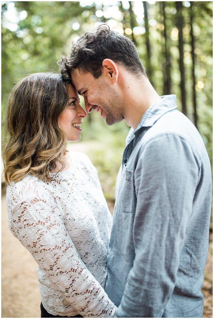 intimate northern california engagement photo